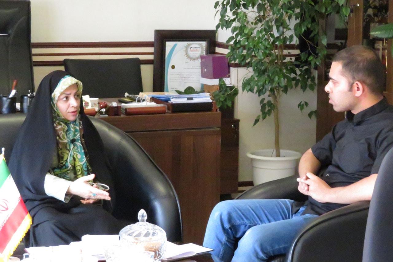 مصاحبه با خانم شارقی مدیر کل امور بانوان استانداری تهران